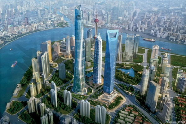 632 méter magas lesz a Shanghai Tower