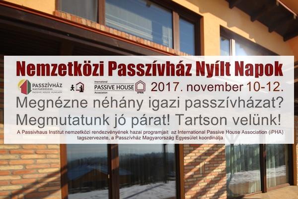 Magyar passzívházak is látogathatók november második hétvégéjén! Nemzetközi Passzívház Nyílt Napok 2017